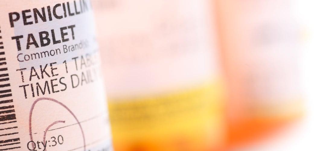 Image of a prescription bottle of penicillin